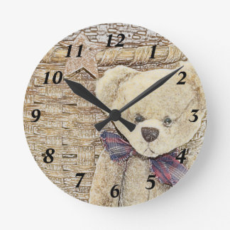 Old Teddy Bear Clock