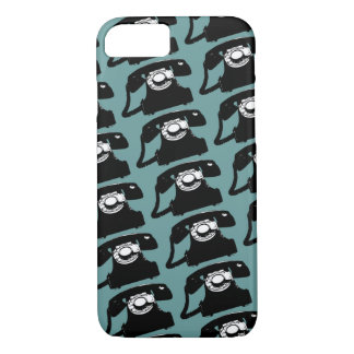 old telephones patterned iPhone 7 case
