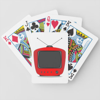 Old Television Set Bicycle Playing Cards