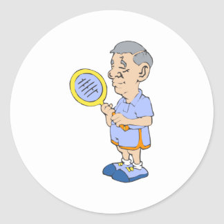 Old Tennis Man Stickers