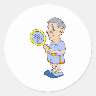 Old Tennis Man Stickers