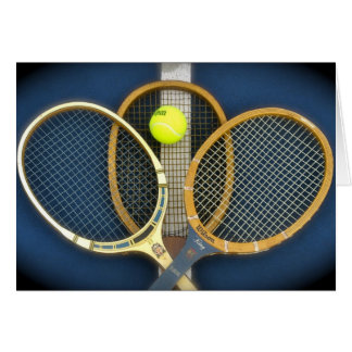 Old Tennis Rackets Card