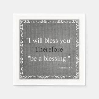 Old Testament Bible Scripture Blessing – Genesis 2 Paper Napkins