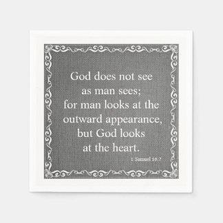 Old Testament Bible Scripture Quote – 1 Samuel 16: Napkin