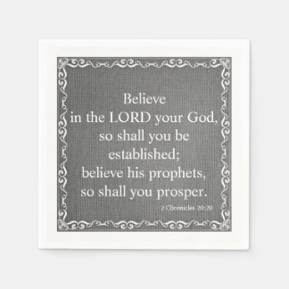 Old Testament Bible Scripture Quote – 2 Chronicles Disposable Napkins