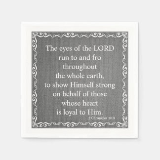 Old Testament Bible Scripture Quote – 2 Chronicles Paper Napkin
