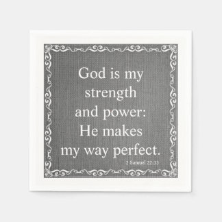Old Testament Bible Scripture Quote – 2 Samuel 22: Paper Napkin
