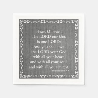 Old Testament Bible Scripture Quote – Deuteronomy Disposable Napkins