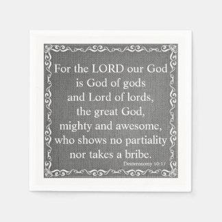 Old Testament Bible Scripture Quote – Deuteronomy Paper Napkins