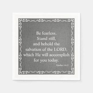 Old Testament Bible Scripture Quote – Exodus 14:13 Disposable Napkin