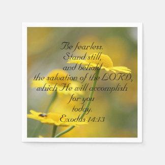 Old Testament Bible Scripture Quote – Exodus 14:13 Napkin