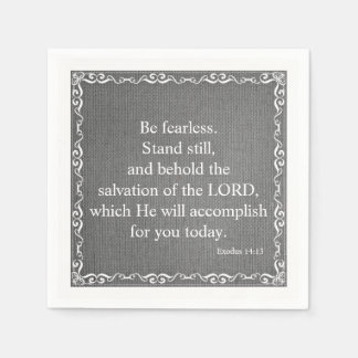 Old Testament Bible Scripture Quote – Exodus 14:13 Napkin