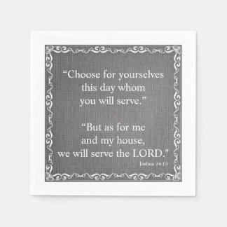 Old Testament Bible Scripture Quote – Joshua 24:15 Disposable Napkin