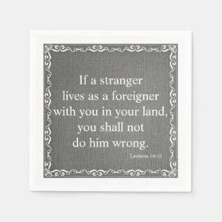 Old Testament Bible Scripture Quote – Leviticus 19 Disposable Napkins