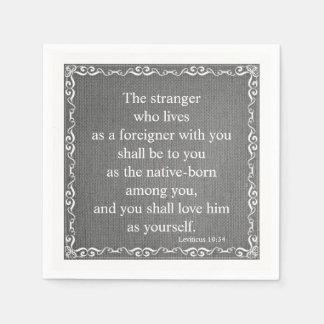 Old Testament Bible Scripture Quote – Leviticus 19 Paper Napkin