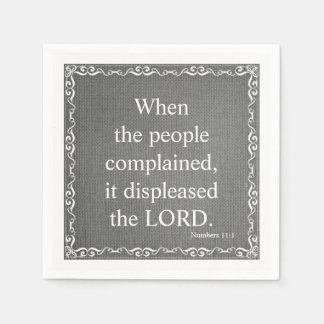 Old Testament Bible Scripture Quote – Numbers 11:1 Disposable Napkins