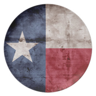 Old Texas Flag Plate