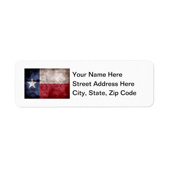Old Texas Flag Return Address Label