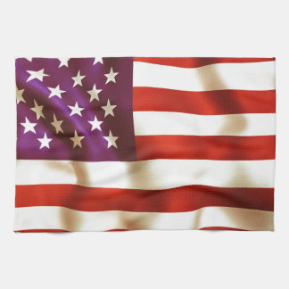 Old the USA flag Hand Towels