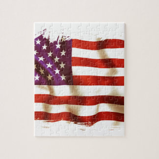 Old the USA flag Jigsaw Puzzle