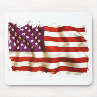 Old the USA flag Mouse Pad