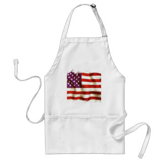 Old the USA flag Standard Apron
