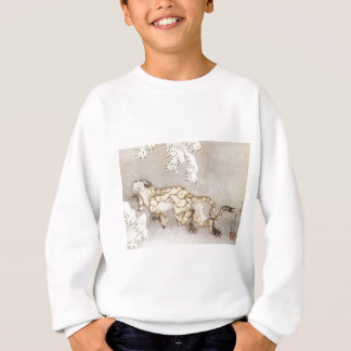 Old Tiger in the Snow Sweatshirt