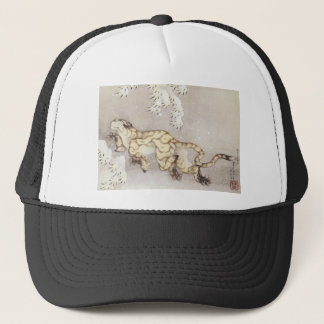 Old Tiger in the Snow Trucker Hat