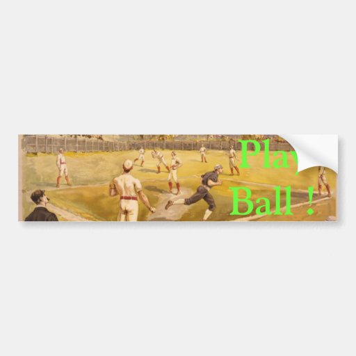 Old Time Base Ball Bumper Sticker