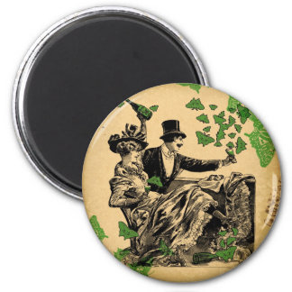 Old Time Carousing 2 Inch Round Magnet