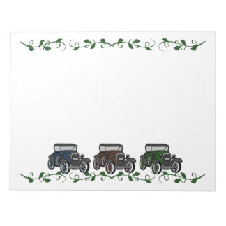 Old Time Cars Notepads