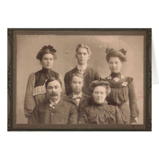 Old Time Family Portrait Greeting Card
