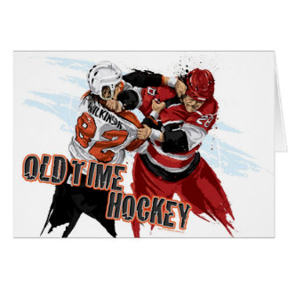 Old Time Hockey Customizable Greeting Card