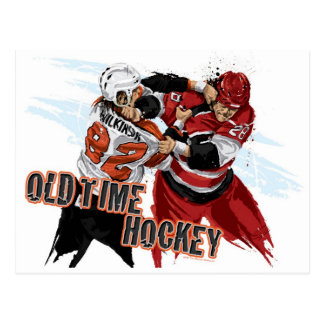 Old Time Hockey Postcard