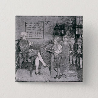Old-Time School in Pennsylvania 2 Inch Square Button