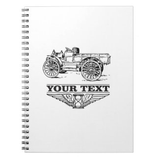 old time truck on road spiral note book