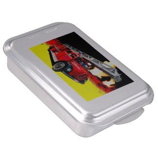 Old timer fire-brigade cake tin