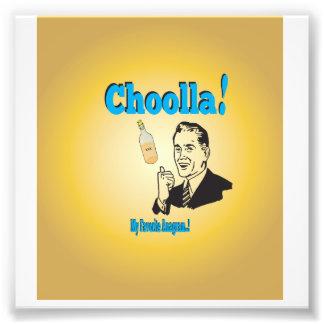 Old-Timey Choolla Alcohol Anagram Humour Photo Print