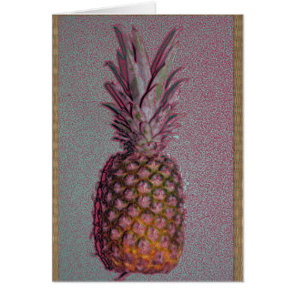 Old timey pineapple greeting card