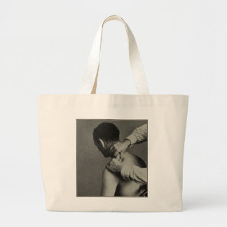 Old Timey Retro Vintage Massage Photo Large Tote Bag
