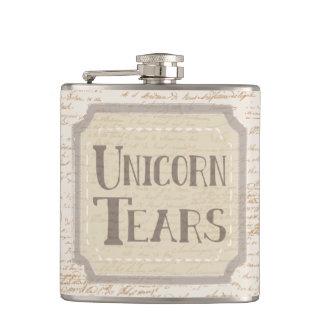 Old Timey Unicorn Tears Hip Flask