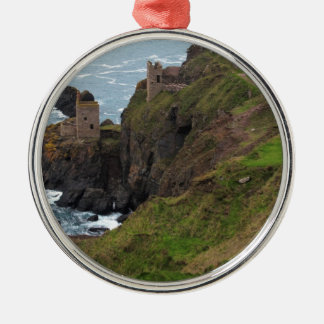 Old Tin Mine Botallack in Cornwall Metal Ornament