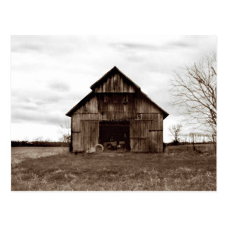 Old Tobacco Barn Postcard