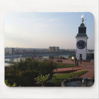 Old tower with clock in the Petrovaradin fortress Mouse Pad
