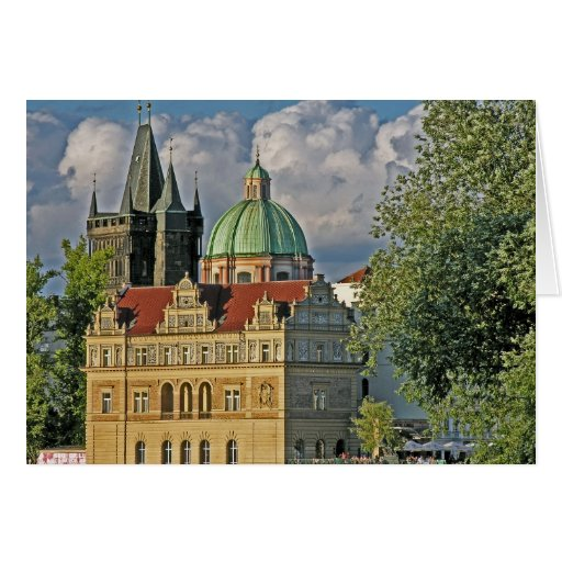 Old Town Bridge Tower/Church Of St Francis, Prague Greeting Cards