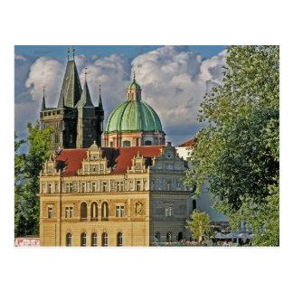 Old Town Bridge Tower/Church Of St Francis, Prague Postcard