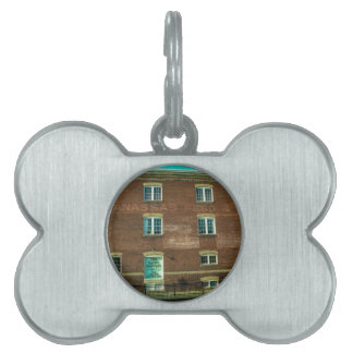 Old Town Building Pet Name Tag