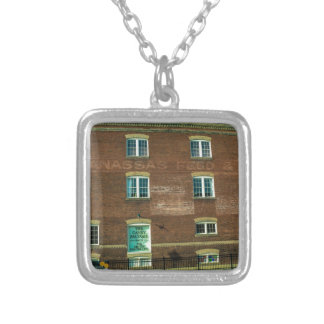 Old Town Building Silver Plated Necklace