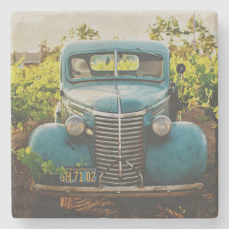 Old Town Country Vintage Automobile Photograph Stone Coaster