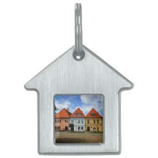 Old town houses in Bardejov, Slovakia Pet Tag